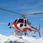 Вертолеты в лыжном царстве.